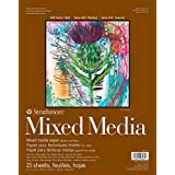 Pro-Art Strathmore Mixed Media Paper Pad, 11 by 14-Inch, 15 Sheets
