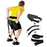 Gymforward Adjustable Padded Jump Training Belt Resistance Waist Straps Trainer Leg Strength Bounce Fitness Accessories, 50lbs