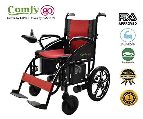 ComfyGO Electric Wheelchair Folding Motorized Power Wheelchairs, Fold