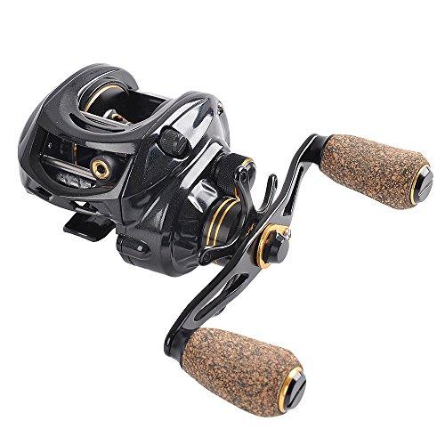 Left Spin Handed Reel (Fiblink Baitcasting Fishing Reel 9+1 Ball Bearings Casting Reel Right/Left Handed Baitcaster (Left))