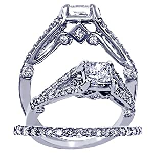 Diamond Engagement Ring And Wedding Band Set