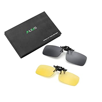 e56024a4ad AUUS Clip on Sunglasses Flip Up Polarized Sunglasses Eyeglass by ...