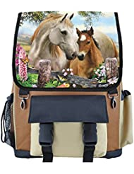 Summer Meadow Horses School Backpack for Girls, Boys, Kids