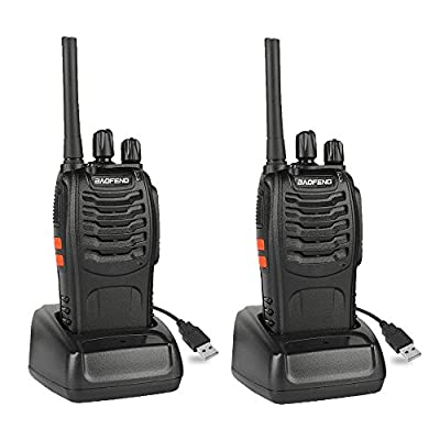 BAOFENG BF-88A Walkie Talkie with Earpiece (Upgrade Version BF-888S) FRS Rechargeable Two Way Radio VOX with USB Charging LED Flashlight, 2 Pack: Electronics