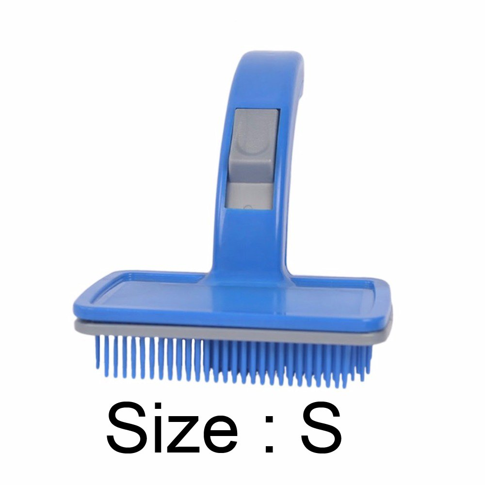 Pet Automatic Hair Brush Comb Small Dog Pet Comb Pet Brush Pet Beauty Cleaning Products Plastic And Nylon Brush Size S