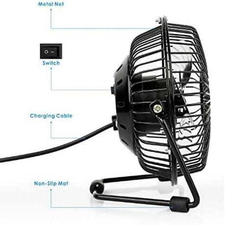 Da.Wa Portable USB Desk Fan Mini Table Fan 4 Inches