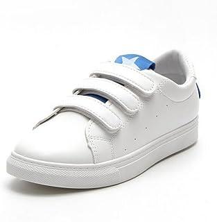GAOLIXIA Sneakers da Donna PU Primavera Velcro Piatto con Scarpe Casual Traspirante Scarpe da Corsa per Studenti Rosso Nero Blu