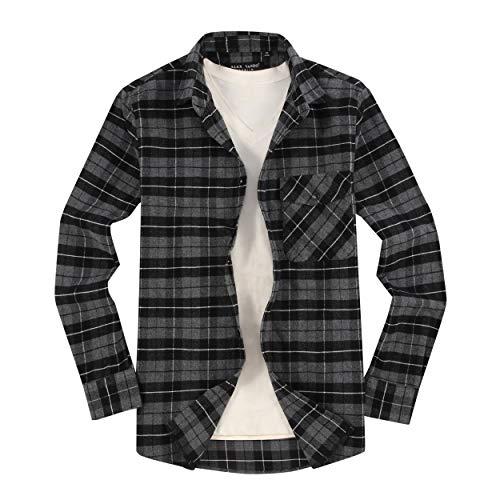 Alex Vando Mens Button Down Shirts Regular Fit Long Sleeve Casual Plaid Flannel Shirt