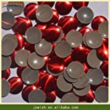 Garment Rivet - 2mm 3mm 4mm 5mm 6mm Siam Red Gold Silver Round Spikes Rivets for Leather Punk Studs and Spikes for Clothes, Rivets Pour le Cuir - (Color: Siam, Size: 6mm 50grosss)