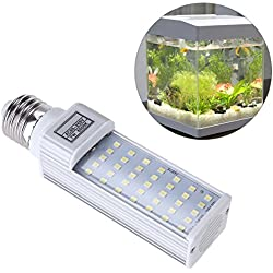 UEETEK 7W E27 LED Energy Saving Lamp to Fit All Fish Pod and Fish Box Aquariums (White)