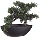 14.5'' Artificial Bonsai Tree Plant Topiary In Outdoor Patio Deck Arrangement Ivy