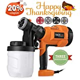 interior paint design Paint Sprayer,Tacklife SGP15AC Electric Paint Spray Gun, 3 Spraying Patts, 900 ml Paint Container, Easy-used for Painting Projectserns with 4 Nozzle