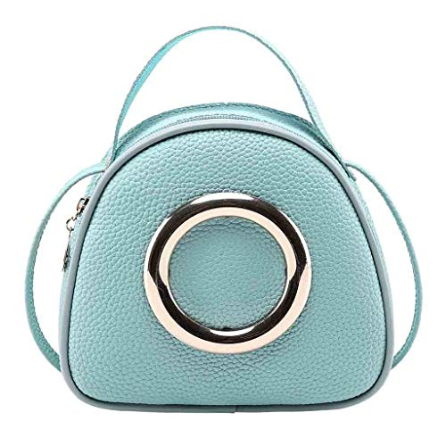 Goddessvan Lady Shoulders Small Handbag Letter Coin Purse Cell Phone Pocket Messenger Bag Blue