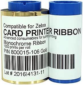 800017-201 Black Ribbon for Zebra P100i P110i P120i Printer 1000 Print  US STOCK