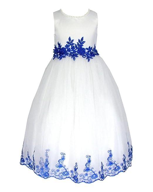 Sin Mangas Vestido Satén Tul Vestido de Fiesta para niña Vestido de Madrina Vestido de ahijada para 2—12 años.