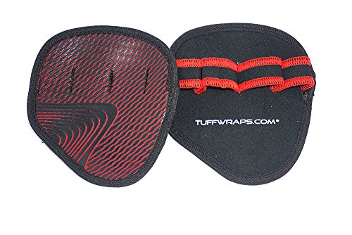 TUFF Workout Hand Grips - Quality Neoprene Pads For Men & Women That Want To Eliminate Sweaty Hands While Lifting At The Gym To Maintain Perfect Grip. Silicon Injection Printing Increases Grip. (Tuff Mens Glove)