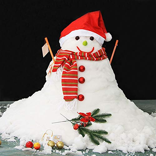 DomeStar Fake Snow, 10 Oz Instant Snow Powder Artificial Snow Magic Snow for Cloud Slime Christmas Tree Decoration Winter Crafts