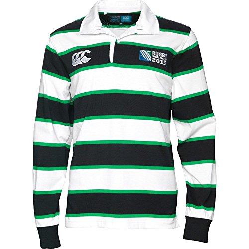 Canterbury - Camiseta de rugby de manga larga para hombre rayas de ...