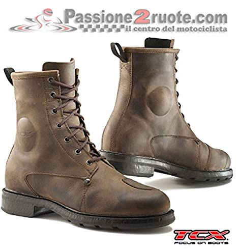 Zapatillas para hombre Botines moto Tcx X-blend Waterproof vintage brown 44: Amazon.es: Amazon.es