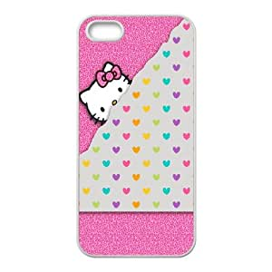 Polka Dot Design iPhone 5 5s Cell Phone Case White Phone cover Y4434169