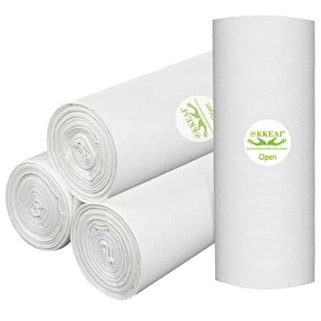 OKKEAI Bolsas de basura biodegradables de 4 galones, bolsas ...