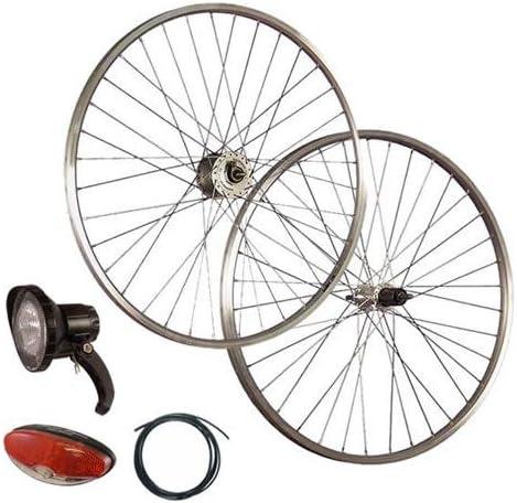 Taylor Wheels juego ruedas bici 28 pulgadas dinamo de buje Acera ...