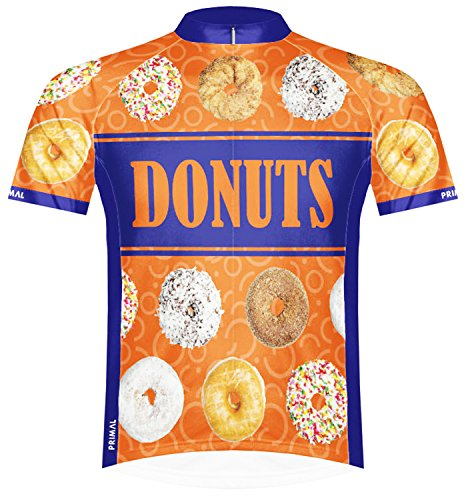 Primal Wear Donuts Team Cycling Jersey XL Men's Short Sleeve Orange Doughnuts ()