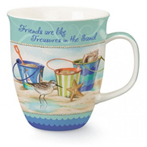 Coffee or Tea Ceramic Mug, Friends Are Like Treasures In The (Treasures Ceramic Mug)