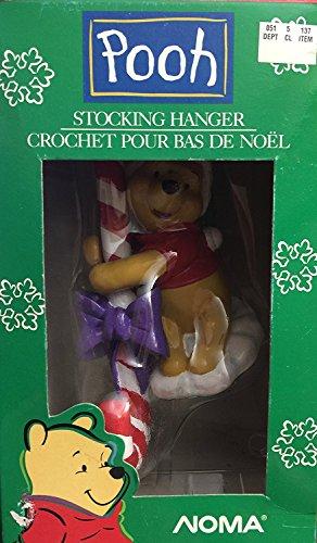 Noma Winnie the Pooh Candy Cane Stocking Hanger (Hangers Stocking Disney)