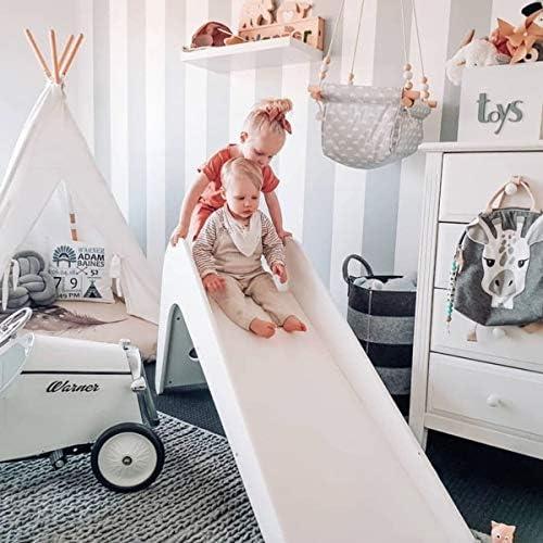 Kinderglijbaan Indoor Home Kids Vrijstaande Klimmer Speelset Klein Speeltuin Houten Speelgoed Fotodecoratie Antislip Stabiel Wit