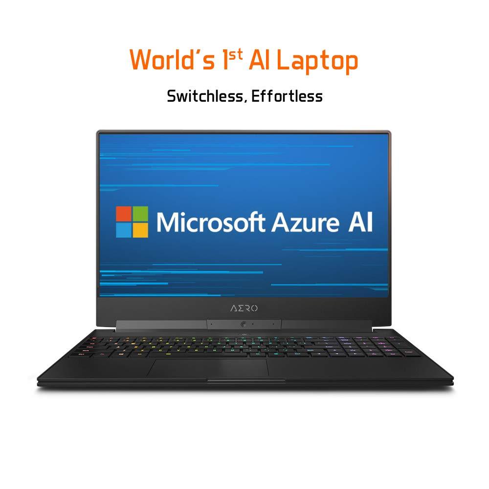 Gigabyte AERO 15-X9-9RT5 15 Thin Bezel FHD LG 144Hz IPS, Intel i9-8950HK, NVIDIA GeForce RTX 2070, 16GB RAM, M.2 PCIe 1TB SSD, RGB KB, Win10, Metal Chassis Ultra Slim Gaming Laptop