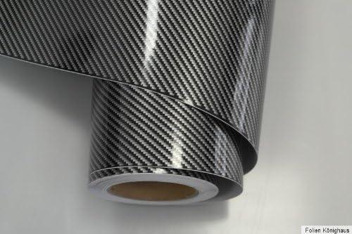 Könighaus 8 55 M2 2d Carbon Schwarz Folie 200 X 152 Cm Blasenfrei Mit Anleitung Autofolie Auto