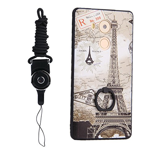 Lanyard And Covers TPU PATTERN Protective With Hard Eiffel Bumper Ring Leaf 8 360 4 Design Huawei Cartoon For or Rotating Degree Phone Holder Cute Case Dress Tower Cases Mate q1ZEHO