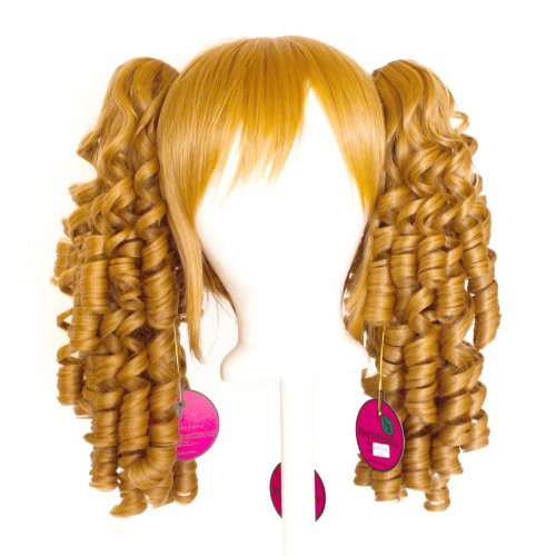 Momo   Hazelnut Brown Wig 18 Ringlet Curly Pig Tails   12 Bob Cut Base Wig Set