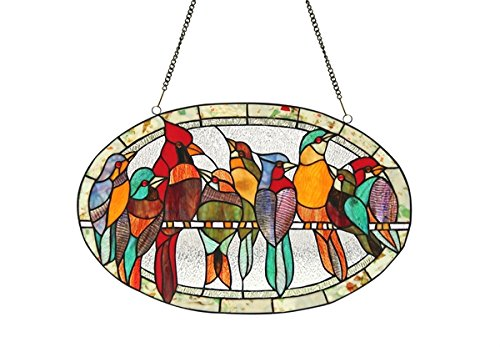 Chloe Lighting KUNO, Tiffany-glass Window Panel ()