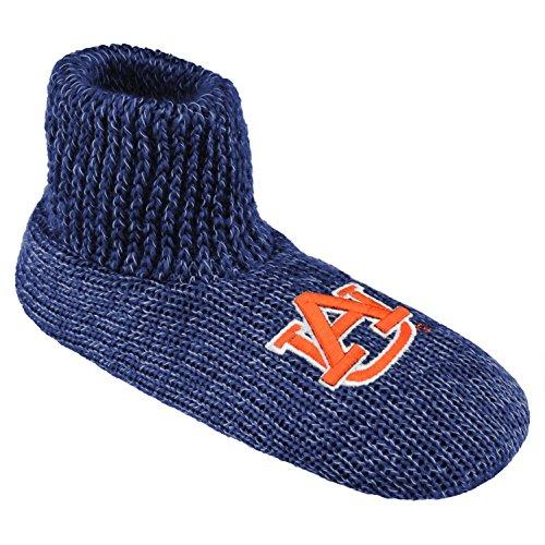 Auburn Tigers Wool (NCAA Auburn Tigers Ribbed Cuff Wool Blend Slipper Socks, Medium, Blue)