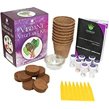 Vibrant Vegetable Kit - Everything You Need to Grow Your Own Organic Vegetable Garden from a Seed - 8 Colorful Vegetable Varieties