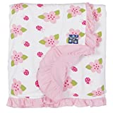 KicKee Pants Print Ruffle Stroller Blanket, Natural Ladybug Review
