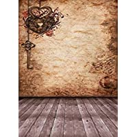 Generic Vintage Photography Backgrounds Retro Key Decoration Wood Floor Brown Wall Booth Backdrops for Photo Studio 8x10ft