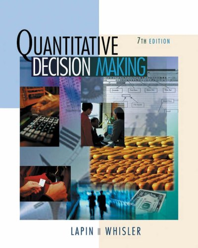 Quantitative Decision Making with Spreadsheet