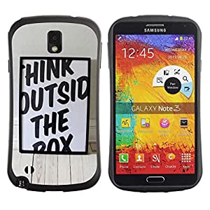 Pulsar iFace Series Tpu silicona Carcasa Funda Case para SAMSUNG Galaxy Note 3 III / N9000 / N9005 , Funny Think Outside The Box