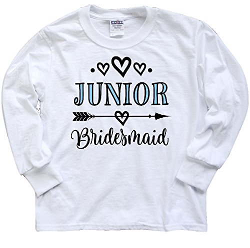 inktastic Junior Youth Long Sleeve T-Shirt Youth X-Large White 2dda5 (Bridesmaid Long Sleeve)