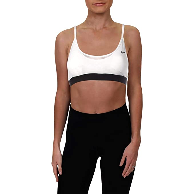 Amazon.com: Nike Womens Indy Fitness Yoga Sports Bra White L ...