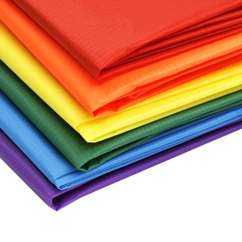EMMAKITES Ripstop Nylon Fabric 40 Denir 60''Wide x36'' Length 12pcs of 12 colors Pack by Emmakites
