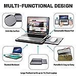 AboveTEK Portable Laptop Lap Desk w/Retractable Left/Right Mouse Pad Tray, Non-Slip Heat Shield Tablet Notebook Computer…