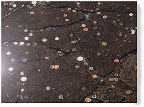 Coins in a Fountain - 12x18 Metal - Nhl Coin