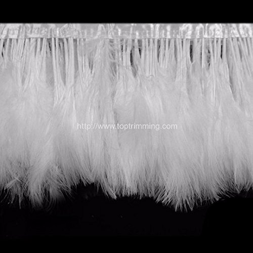 Fluff Trim (Marabou Turkey Fluff Feather Fringe Trim 6