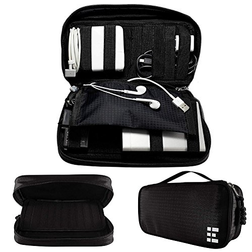 Zero Grid Electronics Travel Organizer - Cord, Cable, and Accessories Case, Black by Zero Grid