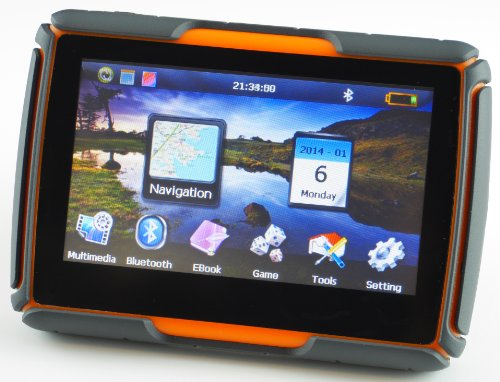 Big Save! Not Just Another GPS - 4.3 Inch Rugged, Watertight Motorcycle/Car GPS Unit with Bluetooth,...