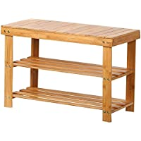 Topeakmart Shoe Rack Bench Hallway Storage Organizer Entryway Furniture Bamboo Stool Seat